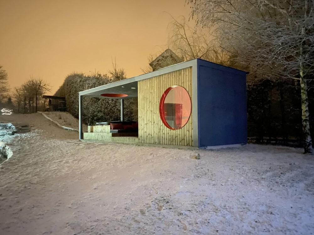 Saunovací pavilon v Hranicích